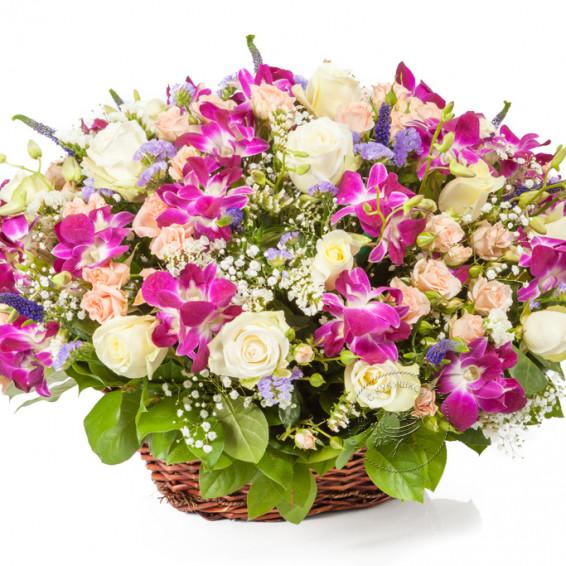 Корзина орхидей «Моей единственной»