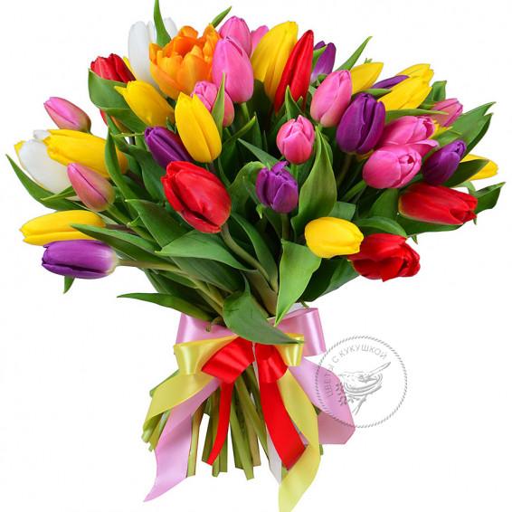 Букет «Микс тюльпанов»