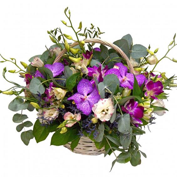 Цветочная корзина «Необитаемый остров»