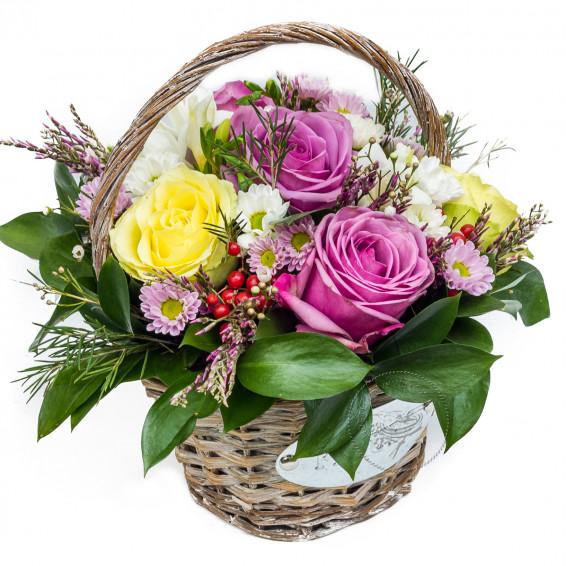 Цветочная корзина «Освежающий щербет»