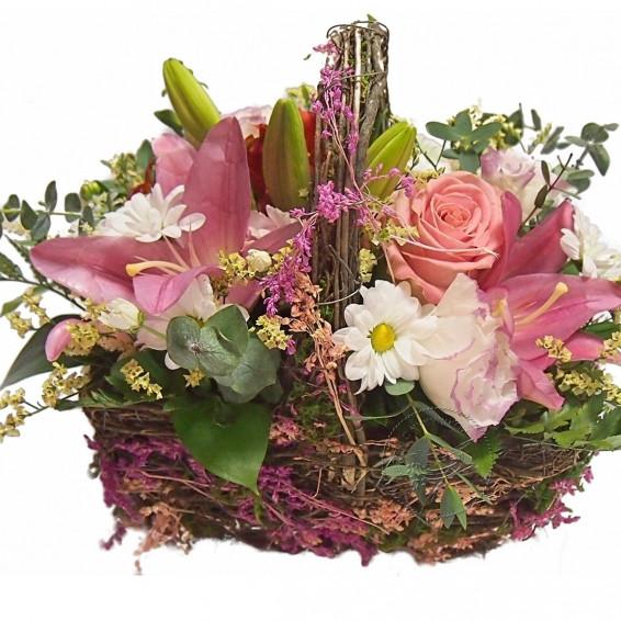 Корзинка цветов «Полевая фантазия»
