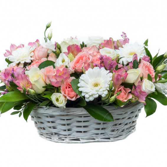 Цветочная корзина «Утренняя роса»