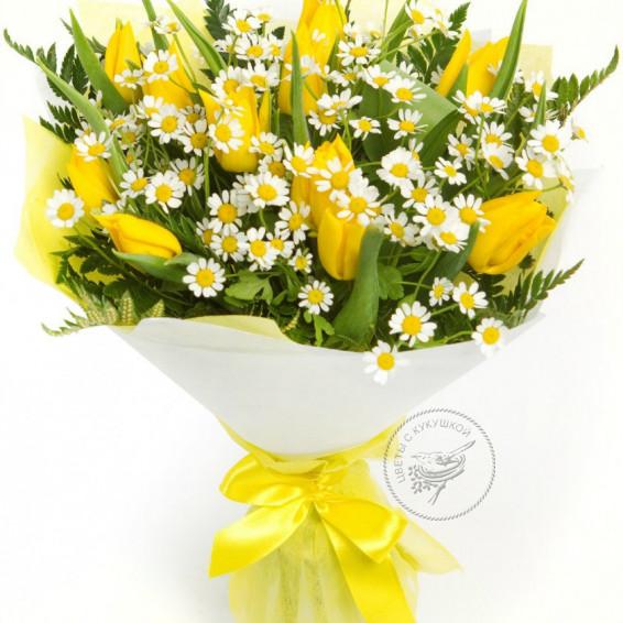 Букет тюльпанов  «Весенний привет»