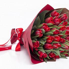 Букет тюльпанов «Красный»