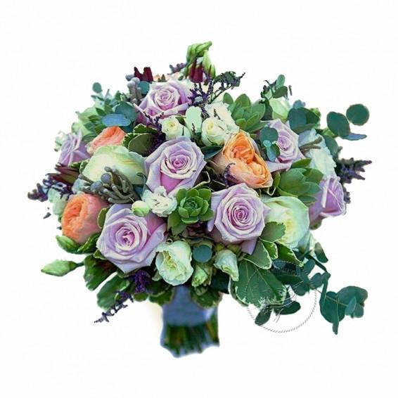 Букет невесты «Аква»