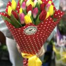 Букет «Тюльпановая страсть»
