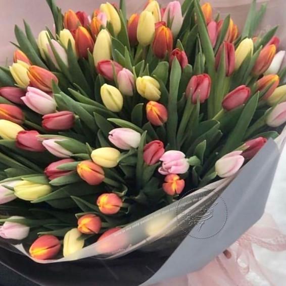 """Букет """"101 тюльпан"""""""