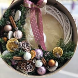 Рождественский веночек «Морозное утро»