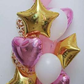 Букет «Розовая нежность» из 13 шаров