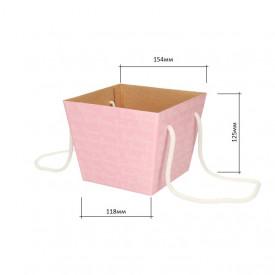 Коробка для цветов 118*154*125 (розовая)