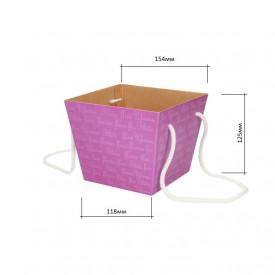 Коробка для цветов 118*154*125 (сиреневая)