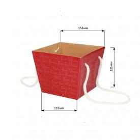 Коробка для цветов 118*154*125 (красная)