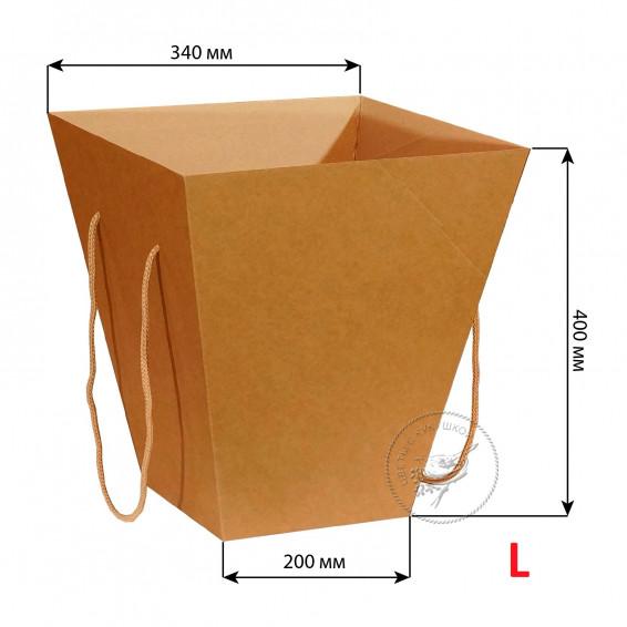 Коробка цветов 200*340*400 L (крафт)