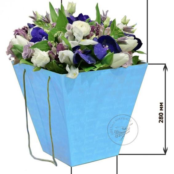 Коробка для цветов 160*280*280 (голубая)