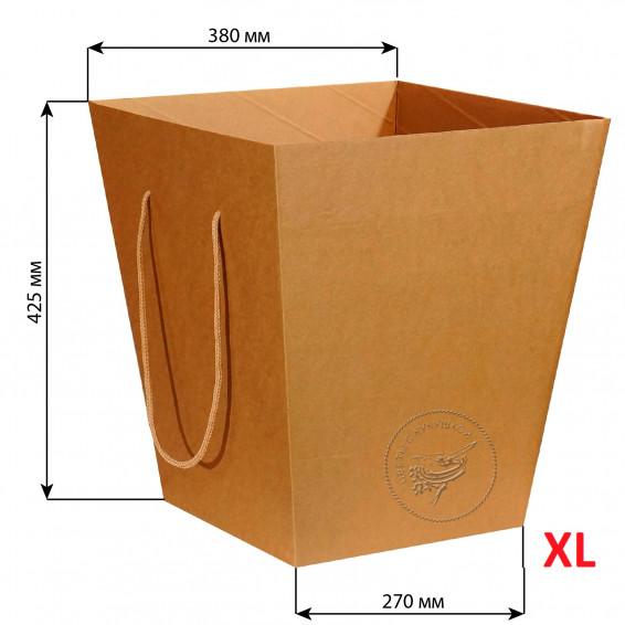 Коробка для цветов 270*380*425 XL (крафт)