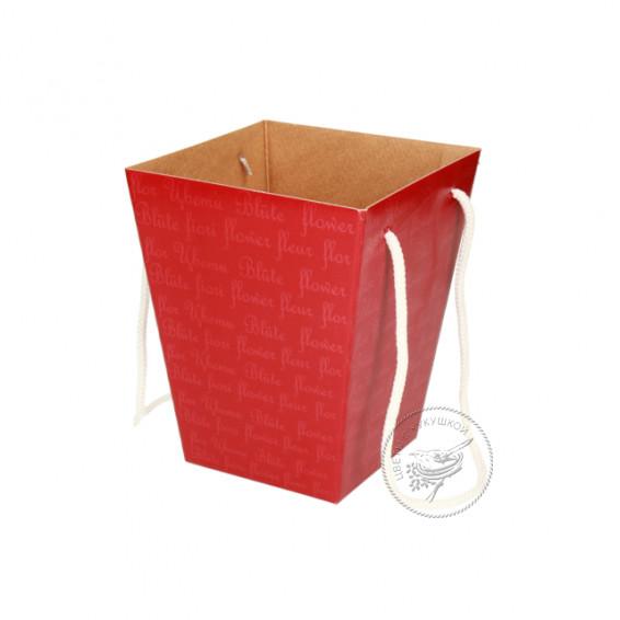 Коробка для цветов  125х180х225 (красная)