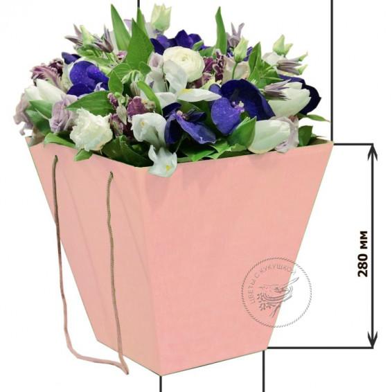 Коробка для цветов 160*280*280 (розовая)