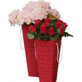 Коробка для невысоких цветов 95*150*405 (в ассортименте)