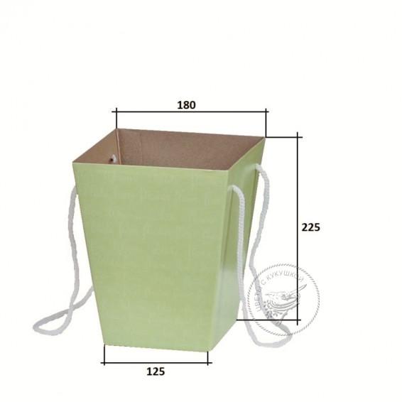 Коробка  для цветов 125х180х225 (зелёная)