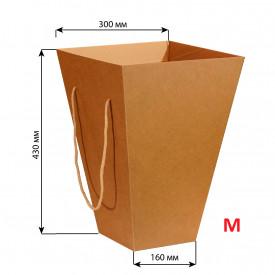 Коробка для цветов 160*300*430 M (крафт)