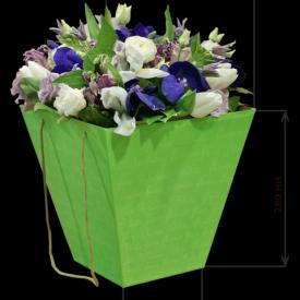 Коробка для цветов 160*280*280 (зелёная)