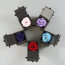 Вечная роза в коробке Микс